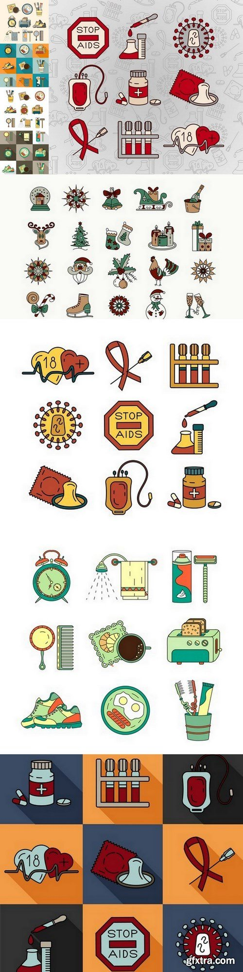 household objects - 9 EPS Vector Stock