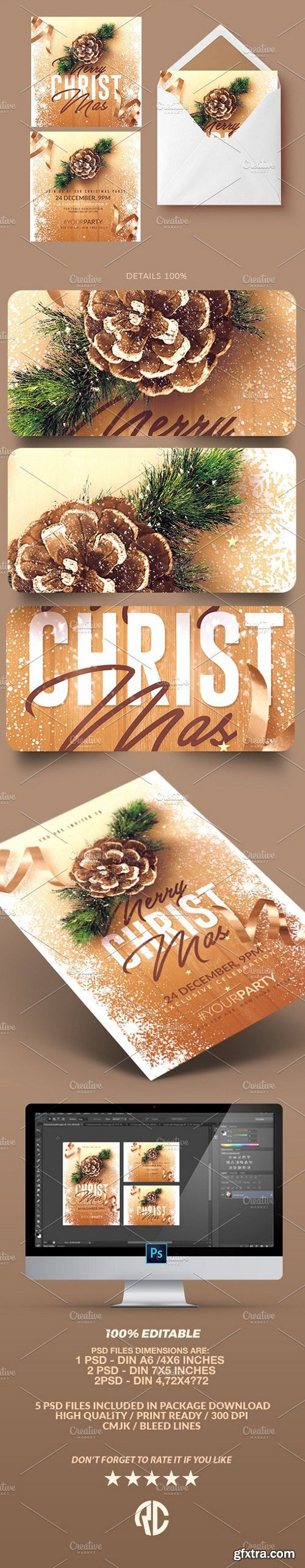 CM - Christmas Invitations - Psd Package 1068606