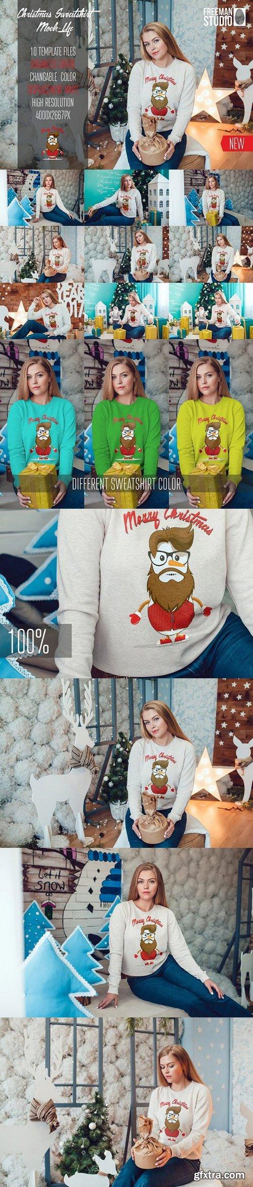 CM - Christmas Sweatshirt Mock-Up Vol.2 1107656