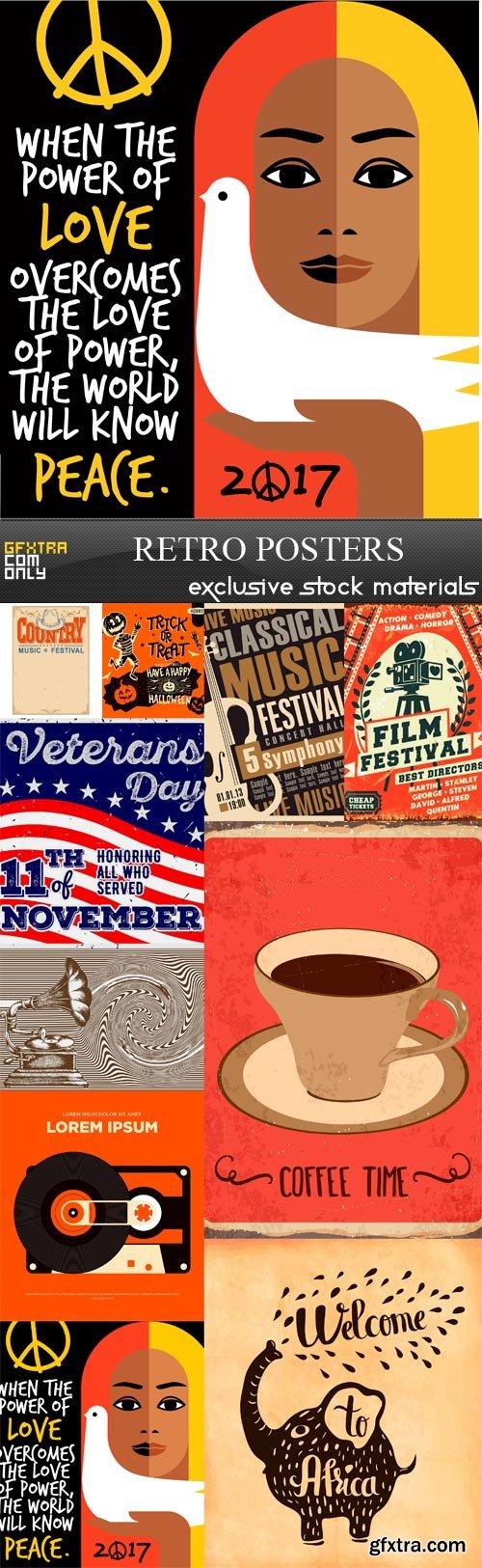 Retro Posters - 10 x JPEGs