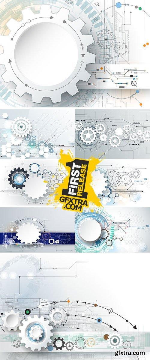 Stock Hi-tech digital technology and engineering, digital telecom technology concept