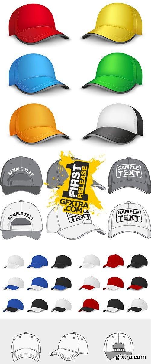 Stock Baseball caps vectors
