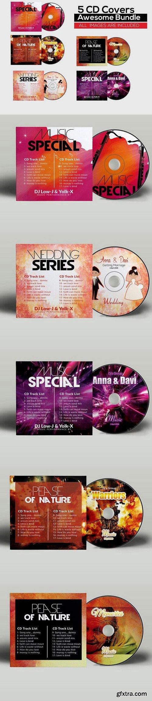 CM - 5 CD Cover Psd Bundle 783078