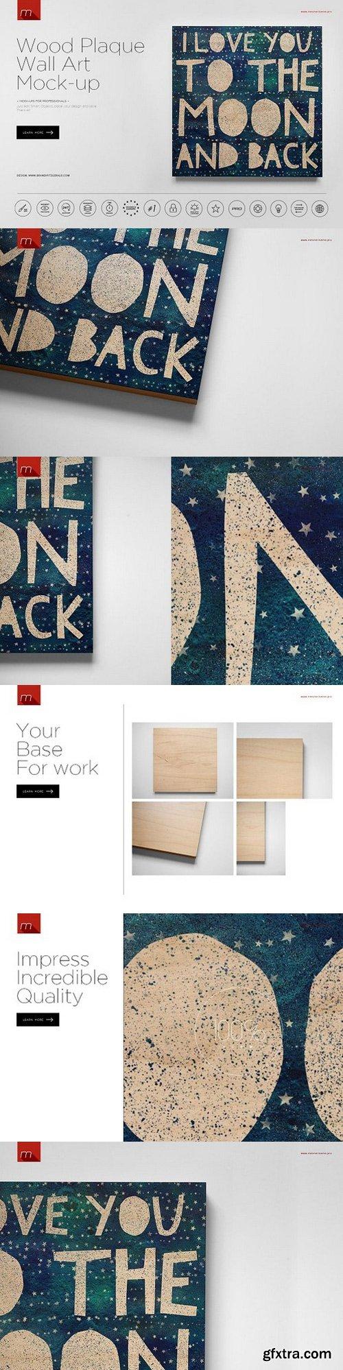 CM - Wood Plaque Wall Art Mock-up 1057206