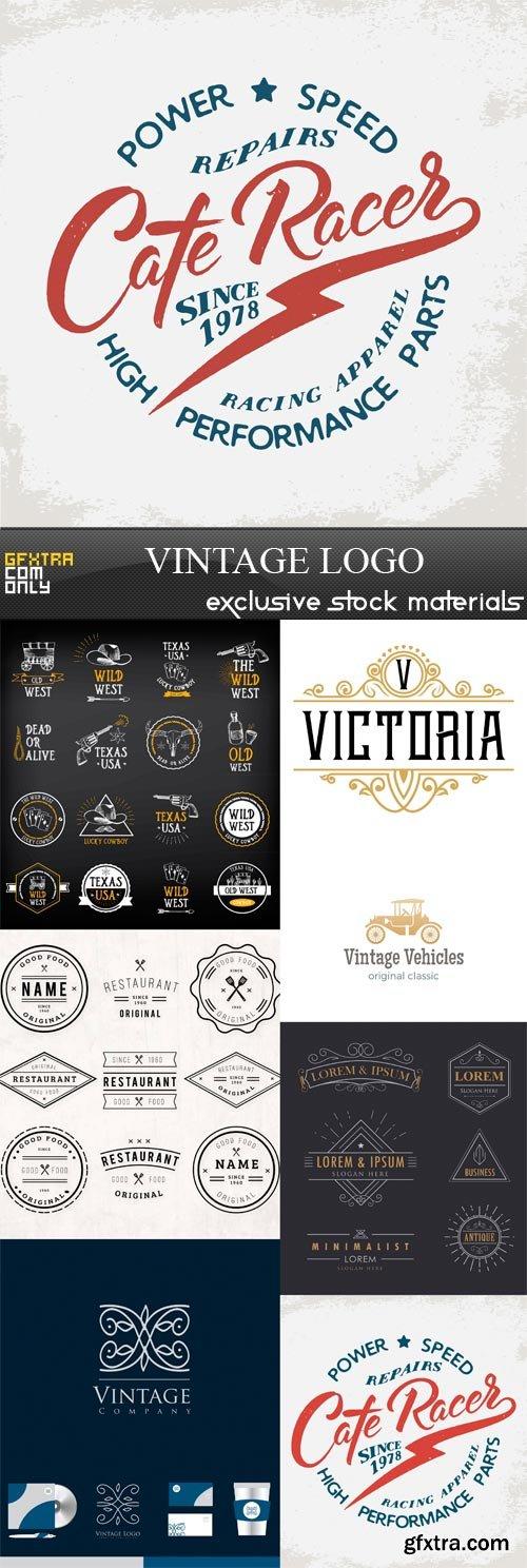 Vintage Logo - 7 x JPEGs