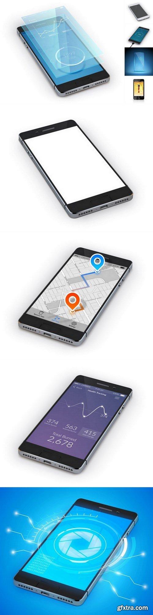 smartphone - 9 EPS Vector Stock