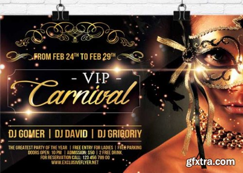 Vip Carnival V11 Premium Flyer Template + Facebook Cover