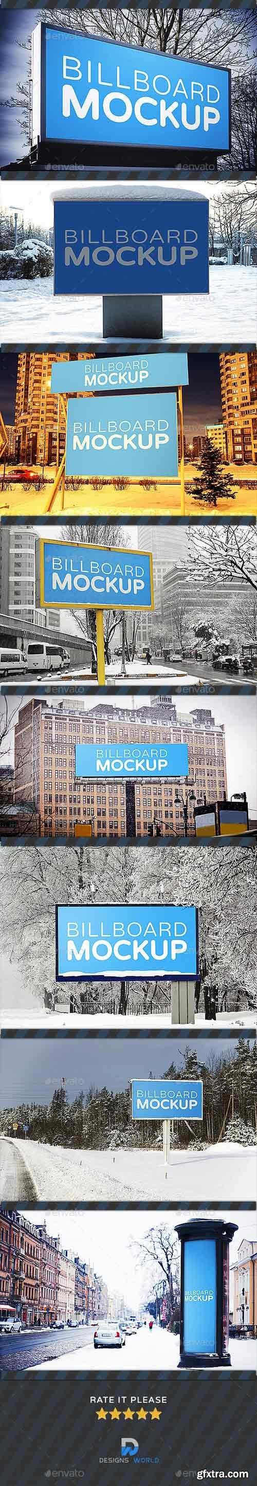 GraphicRiver - Billboards Mock-ups in Winter 18846023