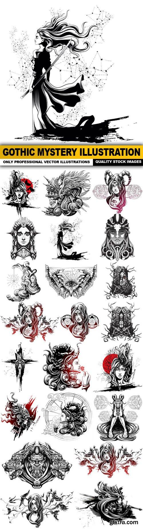 Gothic Mystery Illustration - 22 Vector