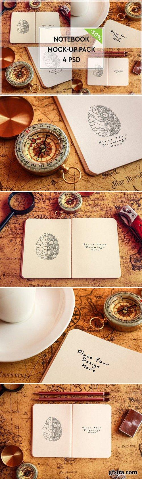 CM - Paper Notebook Mock-up Pack#1 1117069