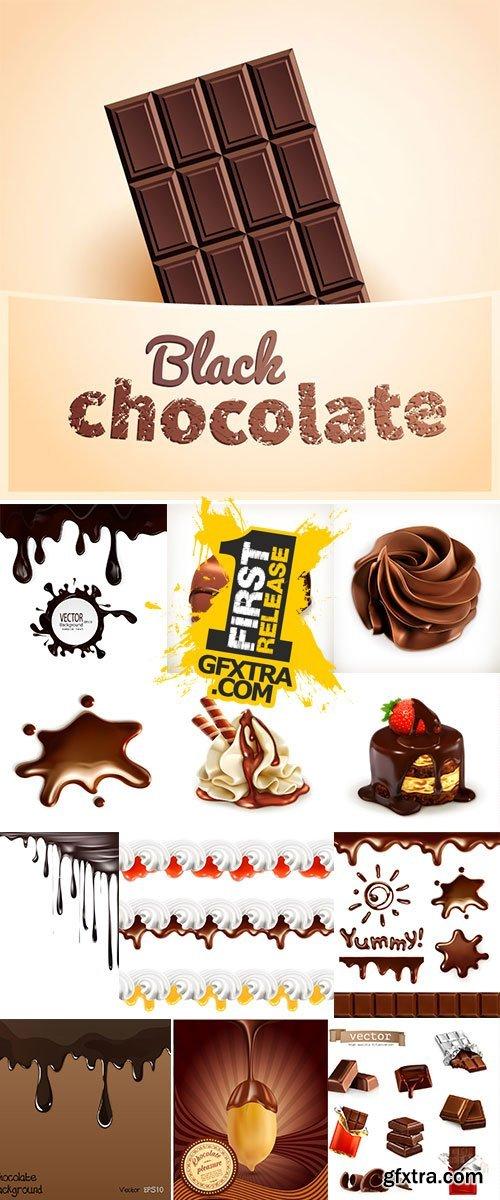 Chocolate whipped cream Stock vector