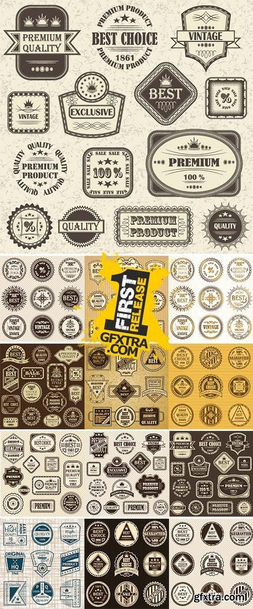 Stock Set of vintage labels