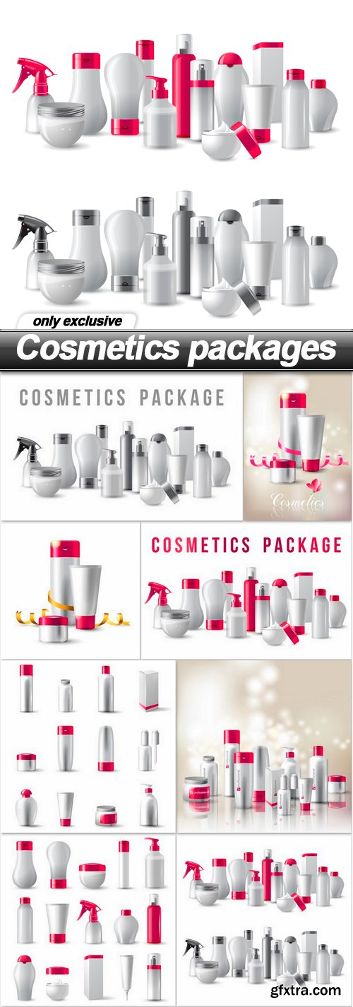 Cosmetics packages - 8 EPS