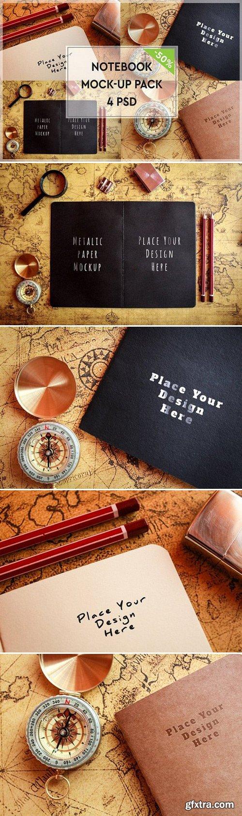CM - Paper Notebook Mock-up Pack#2 1117504