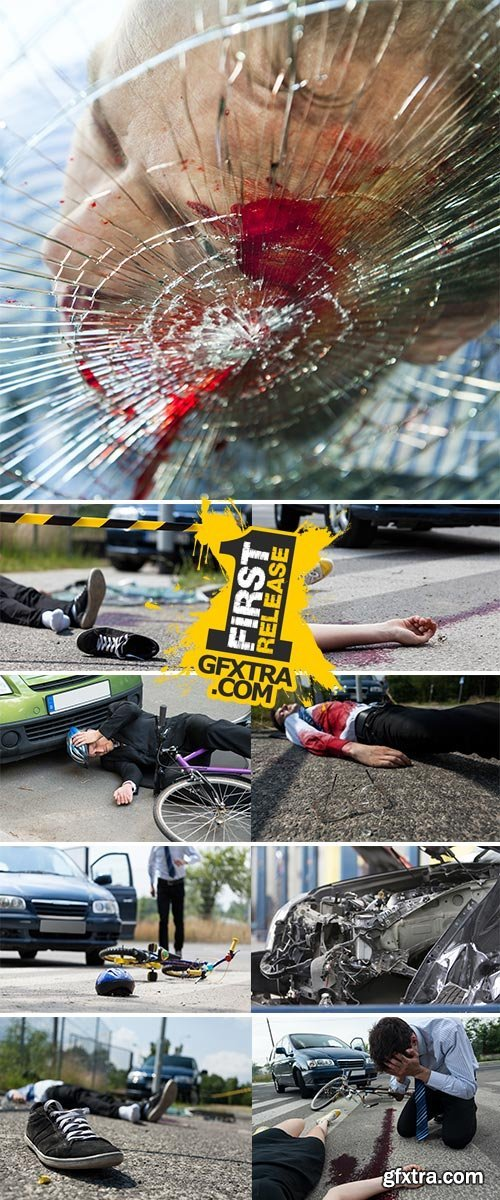Deadly car accident - Stock Image