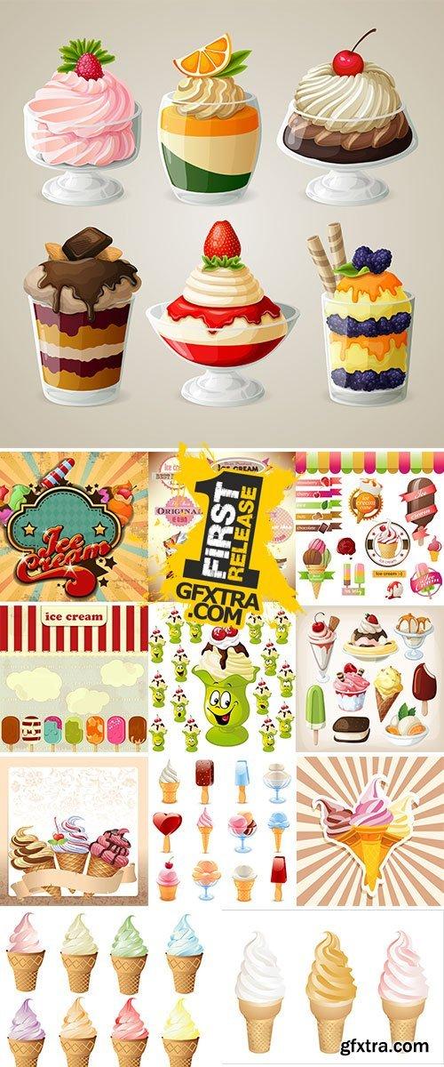 Stock Ice cream vectors