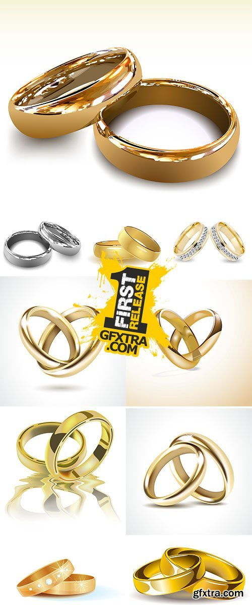 Stock Gold wedding rings vector