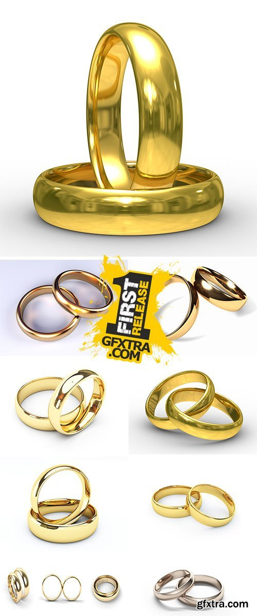 Stock Image Gold wedding rings