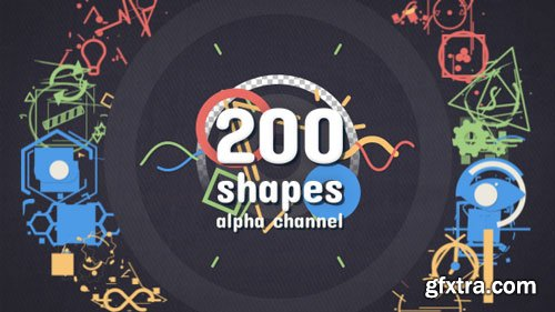 Videohive - Shape Elements Pack - 18599987