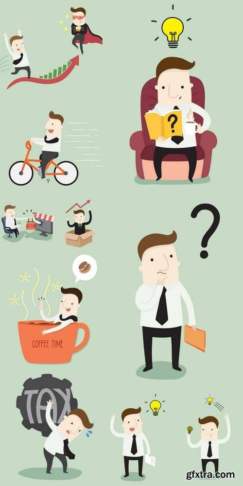 Businessman - Vector Illustration Business Cartoon