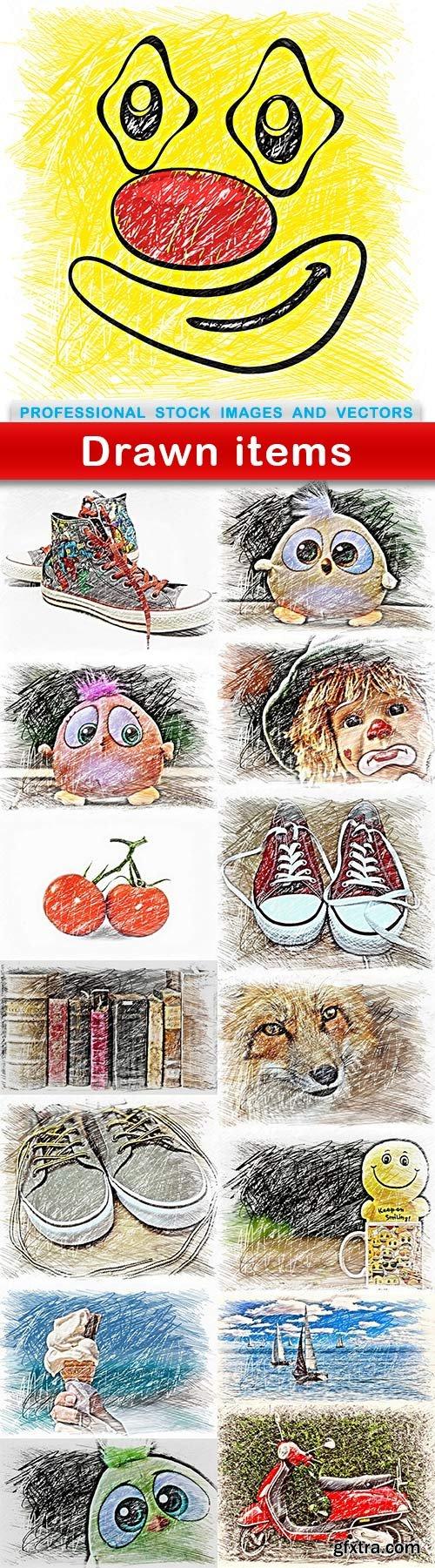 Drawn items - 15 UHQ JPEG