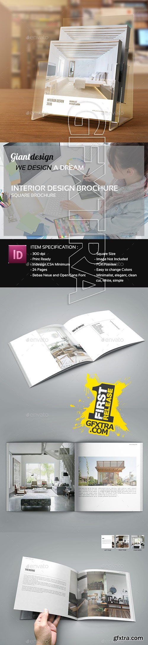 GraphicRiver - Interior Design - Square Brochure Catalog 13686993