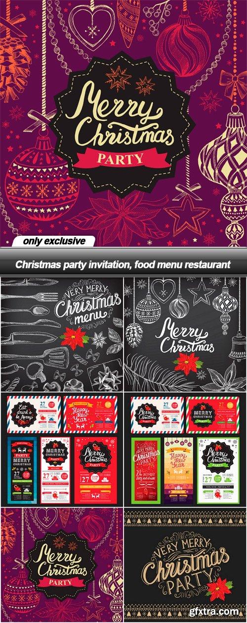 Christmas party invitation food menu restaurant 35 eps vector christmas party invitation food menu restaurant 35 eps stopboris Images
