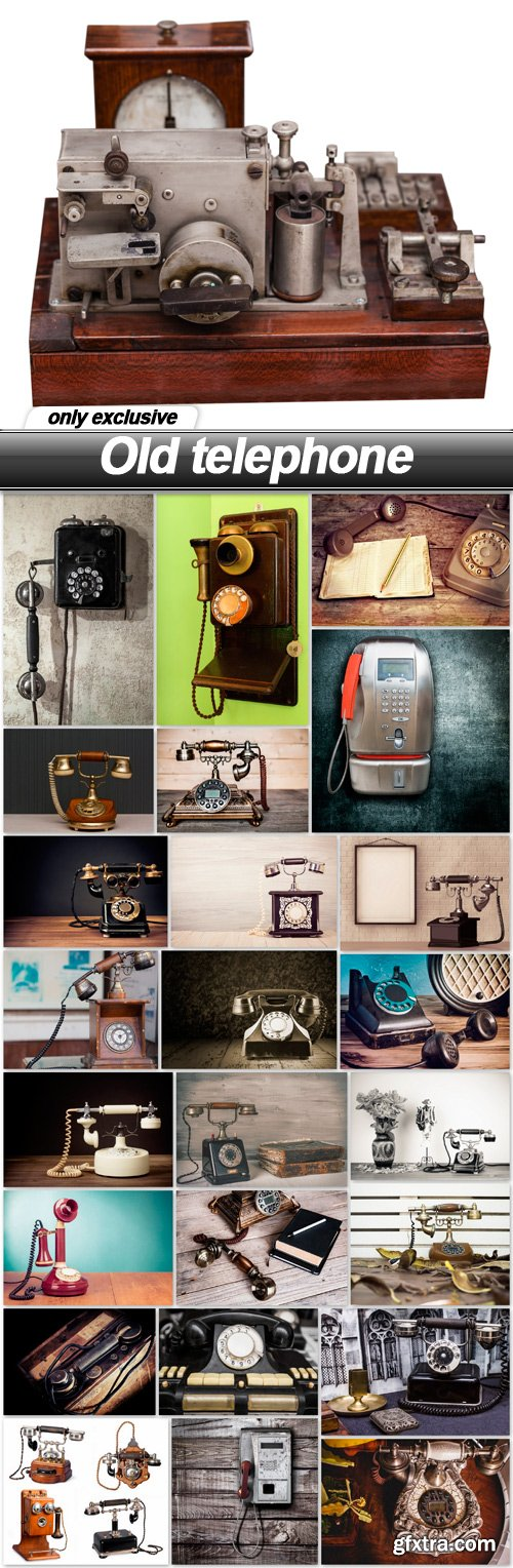 Old telephone - 25 UHQ JPEG