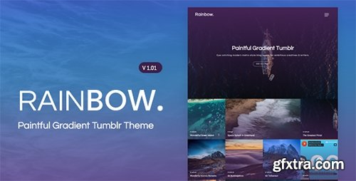 ThemeForest - Rainbow v1.01 - Gradient Grid Tumblr Theme - 19159499