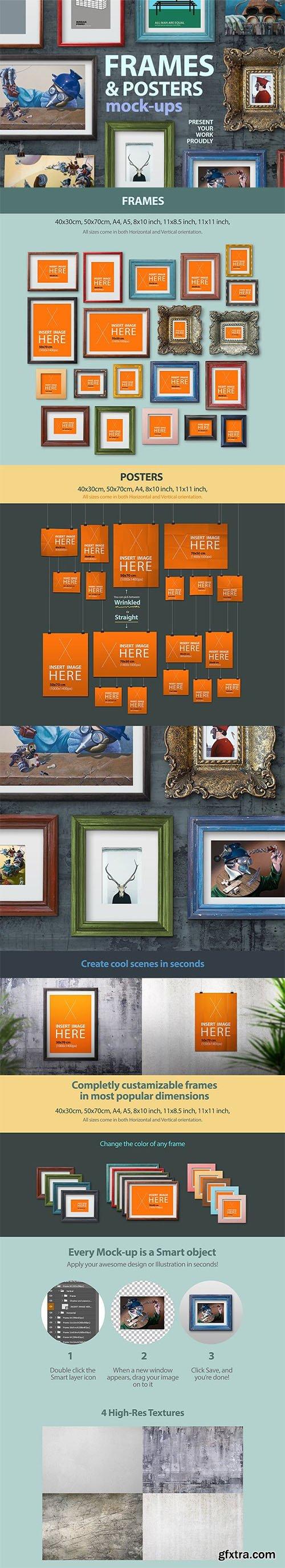 Frames and poster mock-ups - CM 1147234