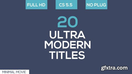 Videohive - 20 Ultra Modern Titles - 19232541