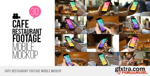 Videohive - Cafe Restaurant Footage Mobile Mockup - 19265104