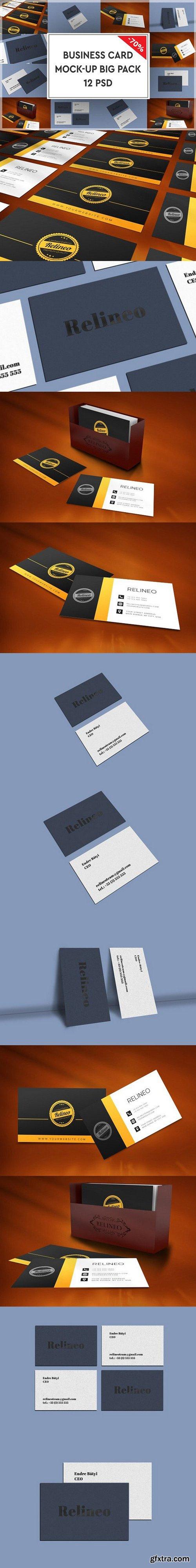 CM - Business Card Mock-up Bigpack 1117508
