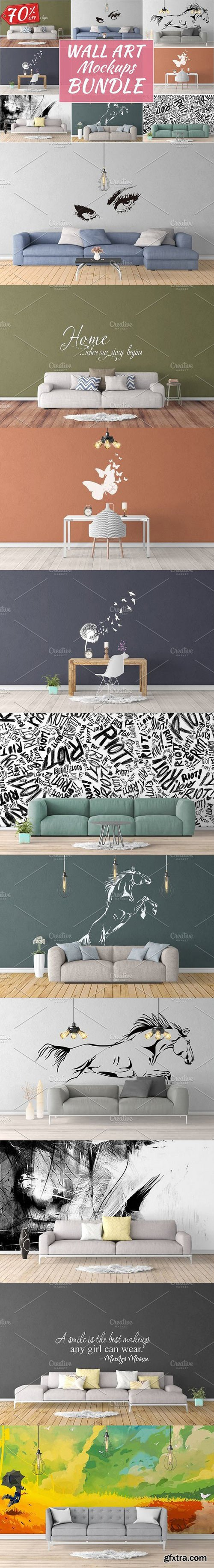 CM - Wall Art Mockups BUNDLE V17 1146697