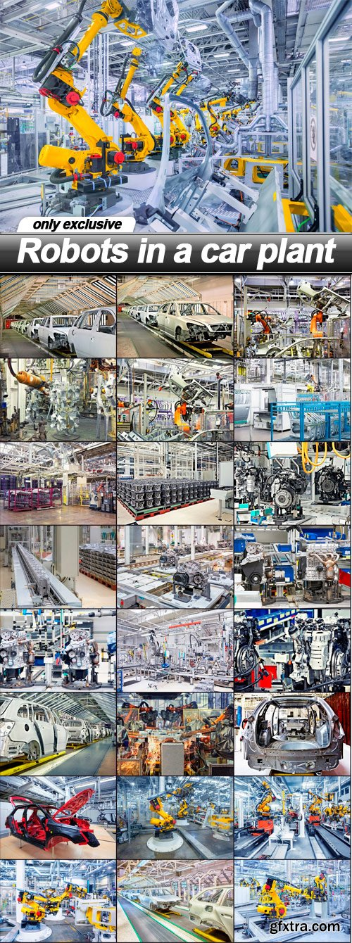 Robots in a car plant - 25 UHQ JPEG