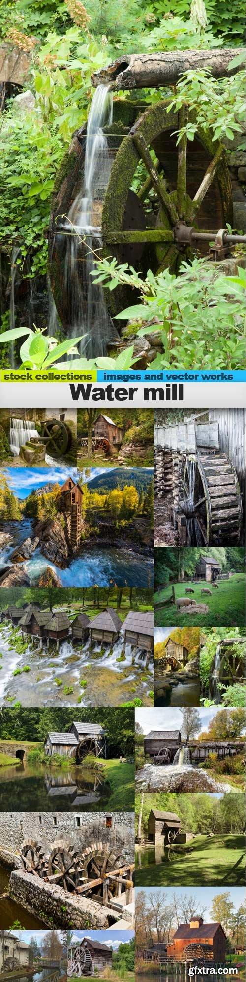 Water mill, 15 x UHQ JPEG
