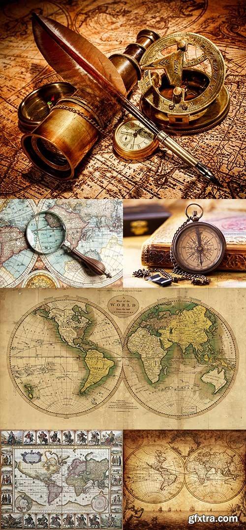 Old Maps and Navigation raster graphics 2