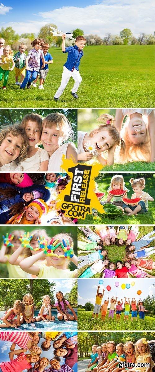 Stock Image Group of happy children2