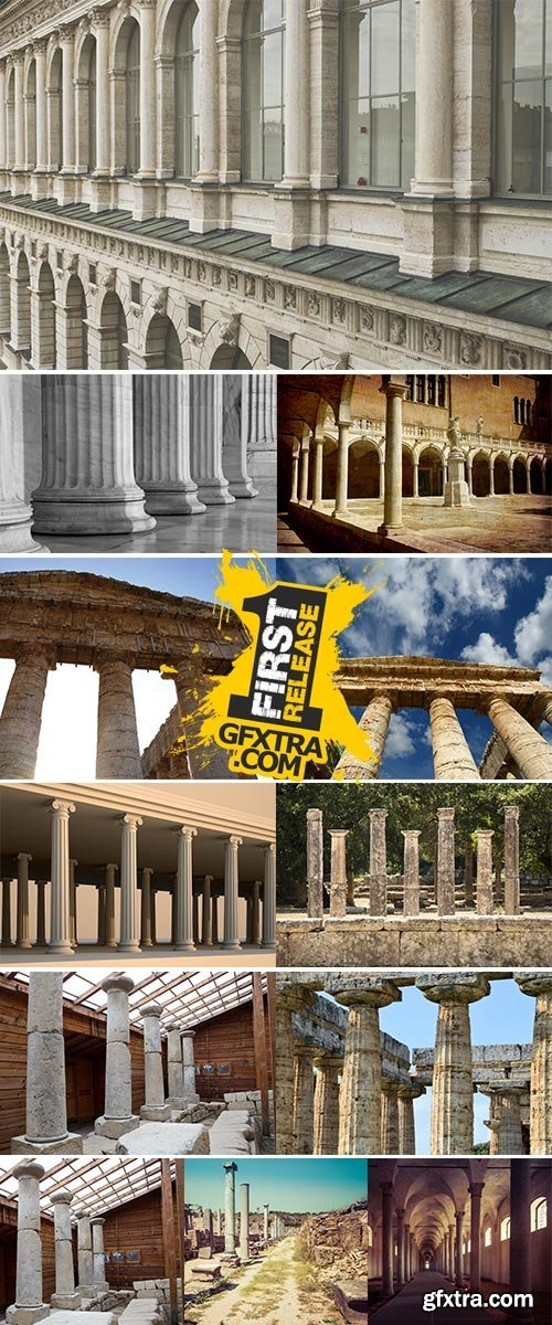 Stock Image Colonnade of ancient columns