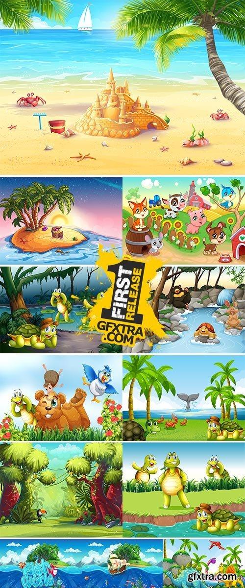 Stock Cartoon Animals Vector