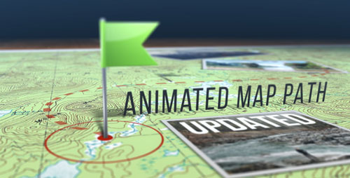 VideoHive - Animated Map Path 17511599