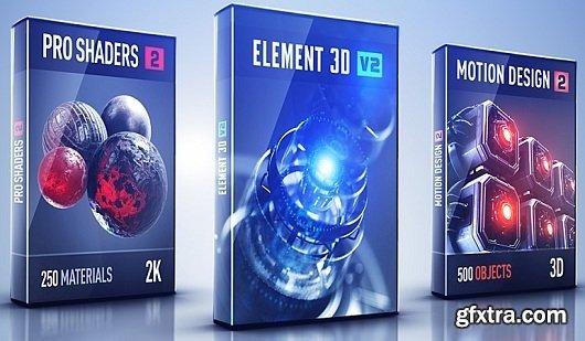 Video Copilot Motion Design 2 + Backlight + Proshaders 2 for Element 3D (Mac OS X)