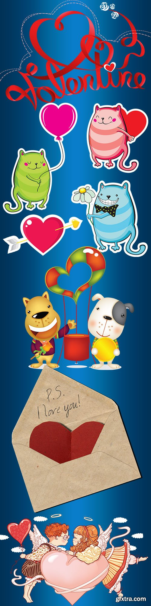 Valentine's day clipart on a transparent background 2