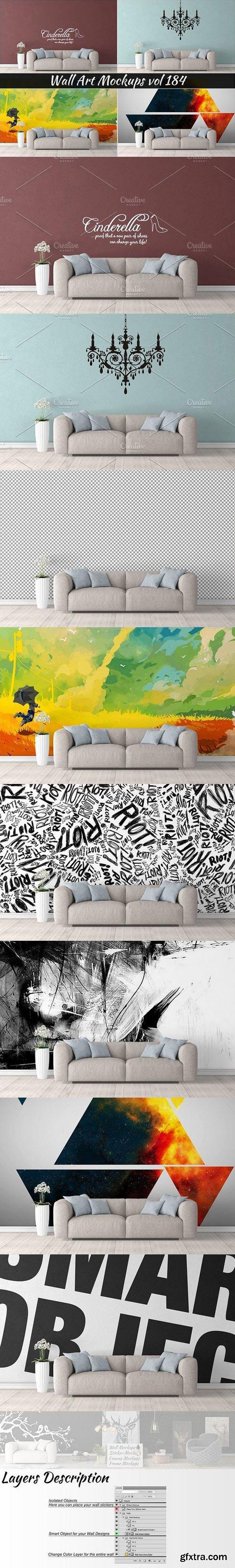 CM - Wall Mockup - Sticker Mockup Vol 184 1117150