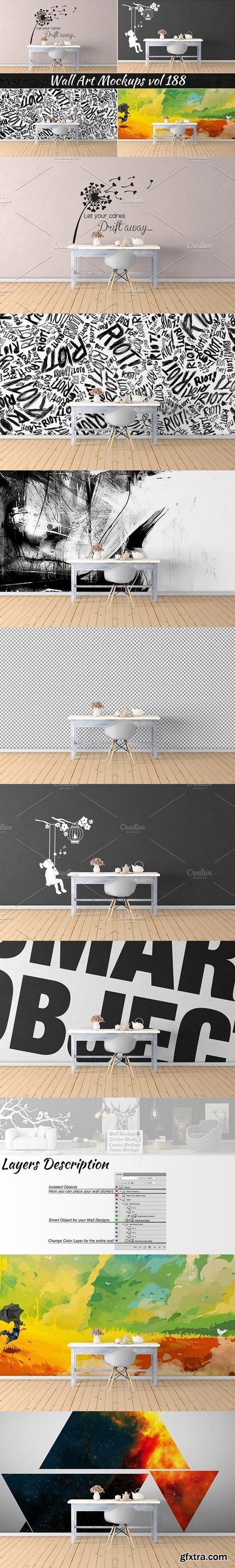 CM - Wall Mockup - Sticker Mockup Vol 188 1117234