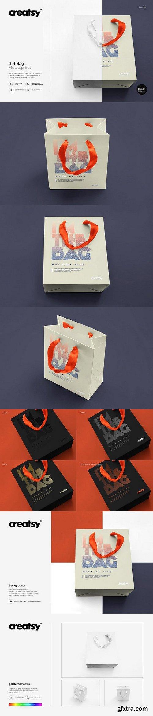 CM - Gift Bag Mockup Set 1146342