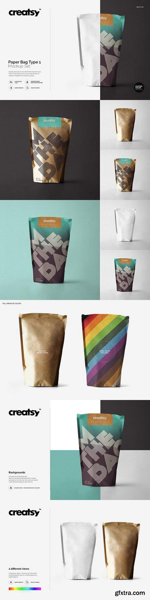CM - Paper Bag Type 1 Mockup Set 1148321