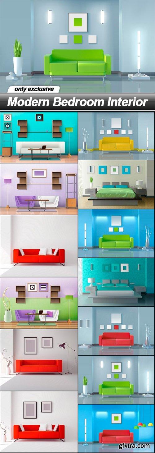 Modern Bedroom Interior - 13 EPS