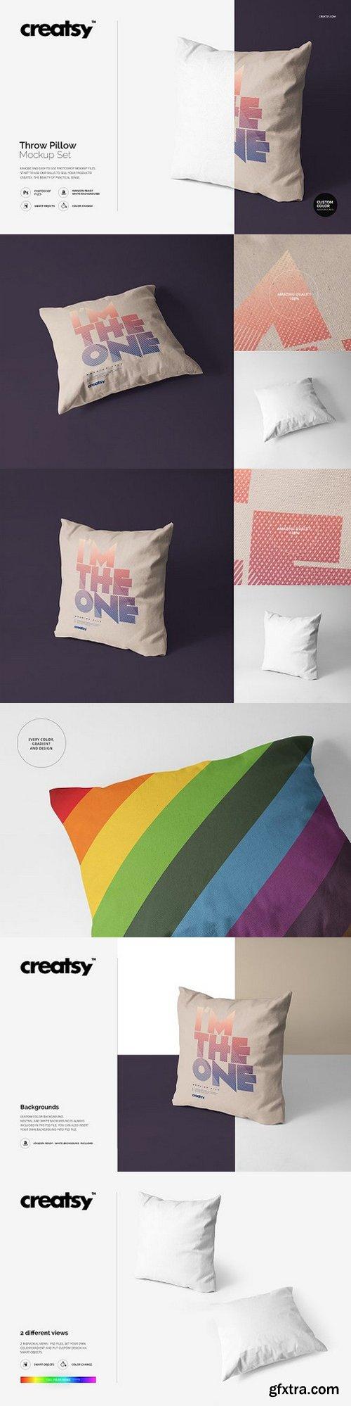 CM - Throw Pillow Mockup Set 1158464