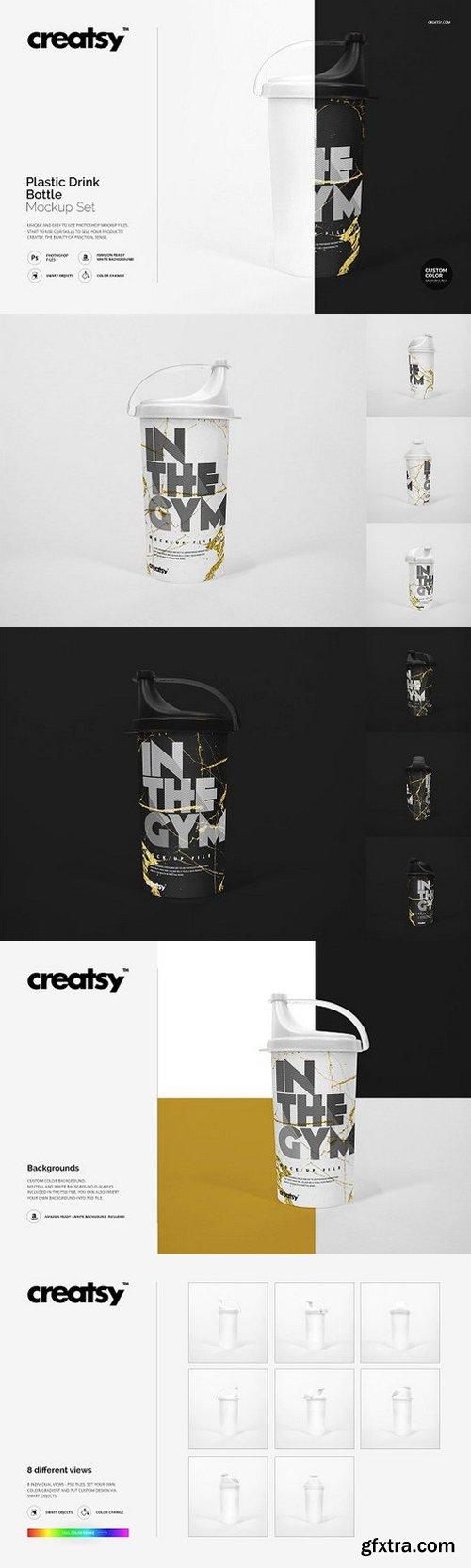 CM - Plastic Drink Bottle Mockup Set 1146589